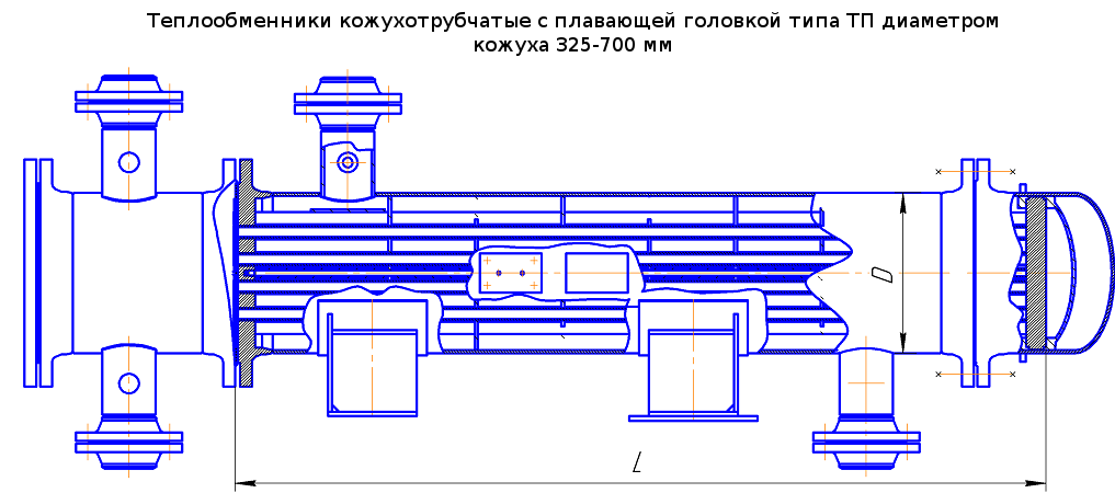 Чертёж трубчатых теплообменников с плавающей головкой чистка теплообменника на котле